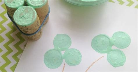 rubber st crafts wine cork clover sts st s day craft for