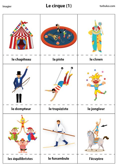 Decor Cirque A Imprimer by Imagier Le Cirque 2 Turbulus Jeux Pour Enfants