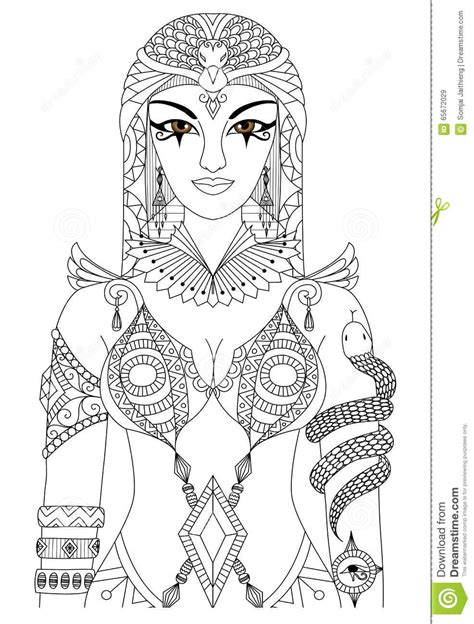 anti stress coloring book dubai cleopatra stock vector image 65672029