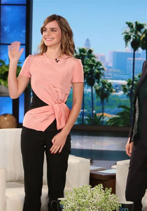 emma watson ellen emma watson appeared on ellen degeneres show in burbank 3