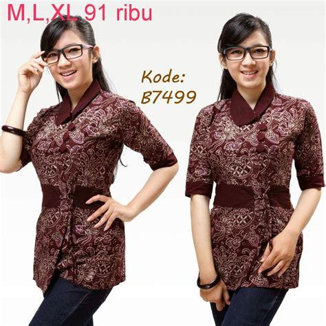 Batik Kerja Wanita 1 baju batik wanita modern design bild