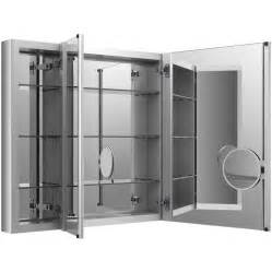 mirrored medicine cabinet shop kohler verdera 40 in x 30 in rectangle surface