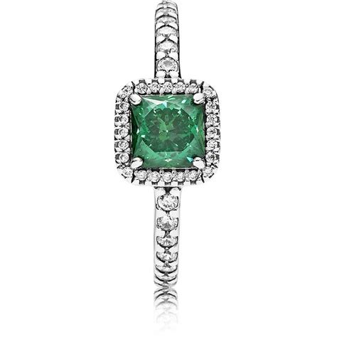 pandora green pandora green timeless elegance ring 190947gcz the hut