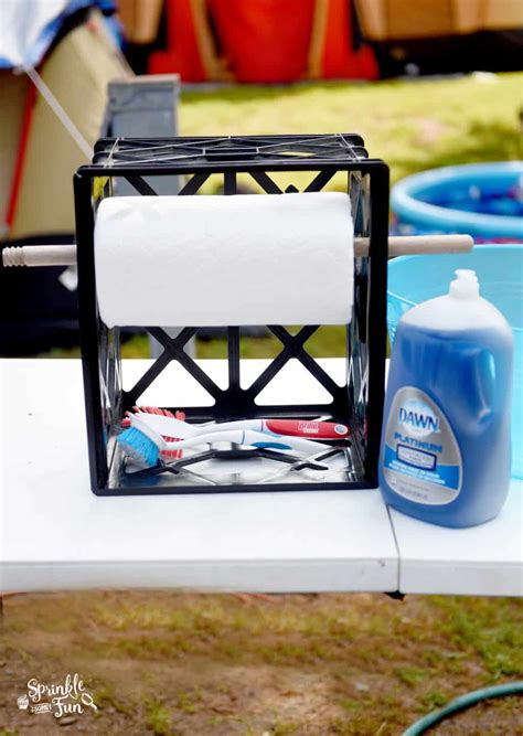 Dish washing station for camping.!   Sprinkle Some Fun