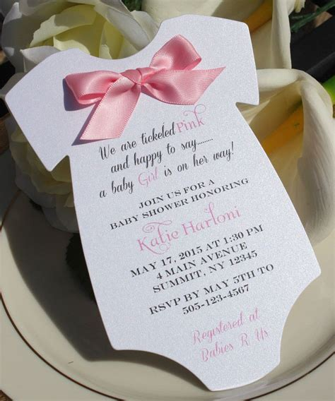 What Is Baby Shower by Baby Shower Invitation For In Shape Of Onesie With