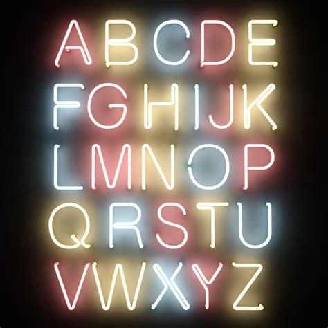 printable neon letters 3dsmax neon tube alphabet letters