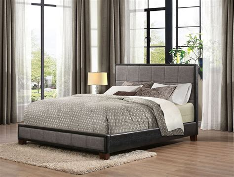Fabric Platform Bed Quinton Fabric Vinyl Platform Bed From Homelegance 1897n 1 Coleman Furniture