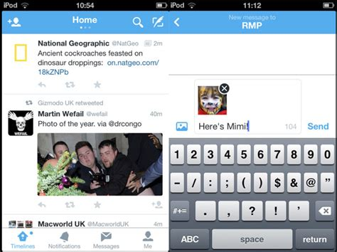 twitter iphone layout twitter updates ios and android apps with new design