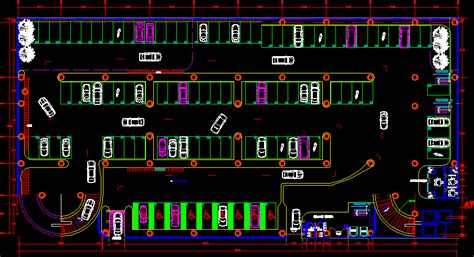 Basement Entrances by Covered Parking In Autocad Drawing Bibliocad