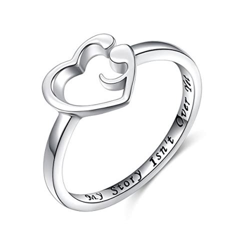 Story Rings s925 sterling silver my story isn t yet semicolon
