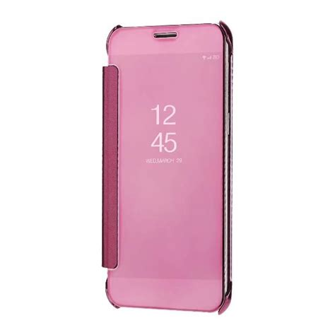 Samsung Galaxy A8 2018 Jc Flip Smart Mirror Casing Cover wholesale cover for samsung galaxy a8 2018 luxury clear view mirror flip smart blue