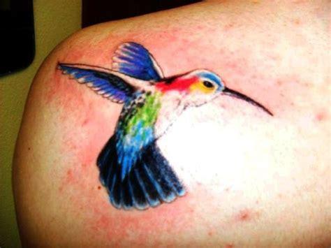 humming bird tattoos hummingbird tattoos on shoulder color