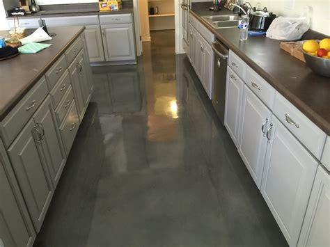 concrete kitchen floor arizona garage floor concrete coatings barefoot surfaces
