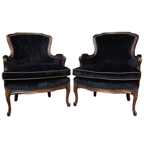 Tacks Upholstery French Vintage Pair Of Louis Xv Bergere Chairs At 1stdibs