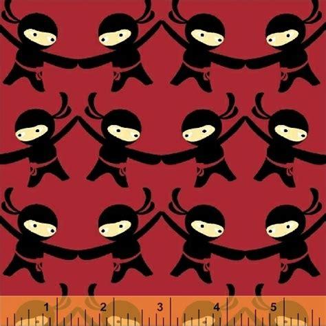 ninja pattern fabric ninjas dont sweat 38948 2 windham fabrics
