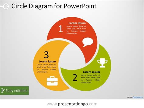Circle Diagram Template by Free 3 Circle Powerpoint Diagram Powerpoint Diagrams