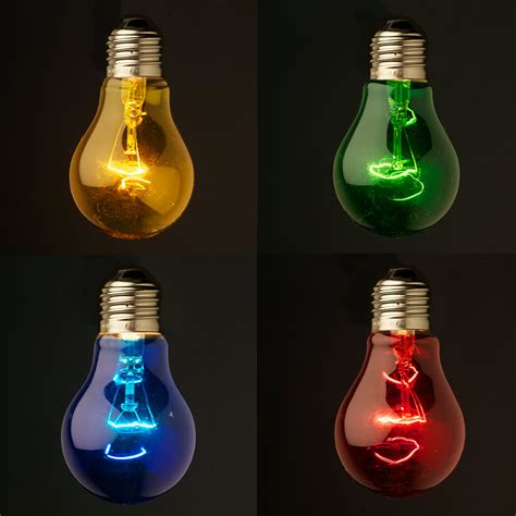 colored light bulbs transparent colored festoon bulb e27