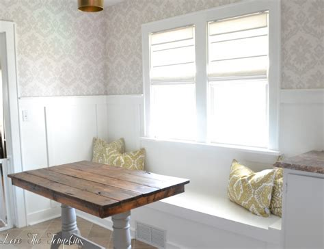 diy breakfast nook diy built in bench breakfast nook love the tompkins