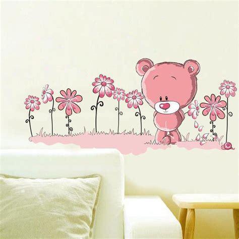 teddy wall stickers teddy wall sticker pink wall stickers