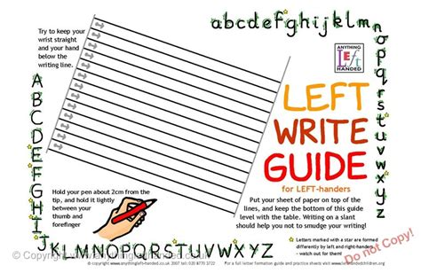free printable handwriting worksheets for left handers left handed writing guide mat download
