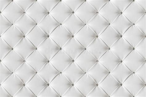 Tufted Upholstery Leather Sofa Texture Seamless Background White Leathers