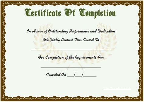 course attendance certificate template course attendance certificate template 10 editable word
