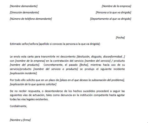 ejemplo de carta de reclamaci 243 n 233 rica carta de queja