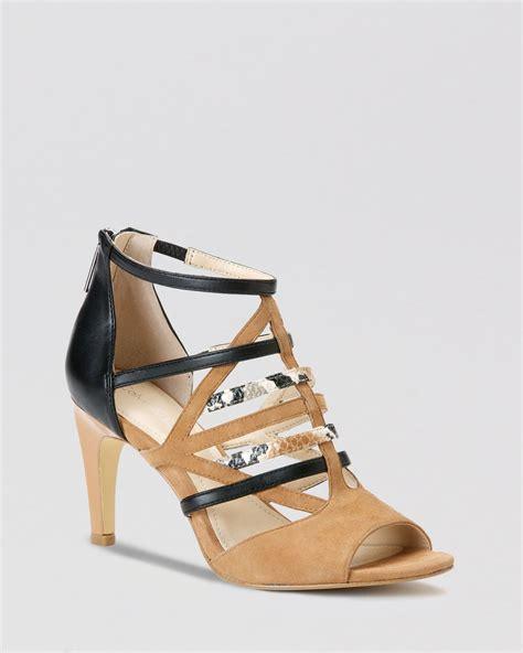calvin klein high heels calvin klein open toe sandals gena strappy high heel in