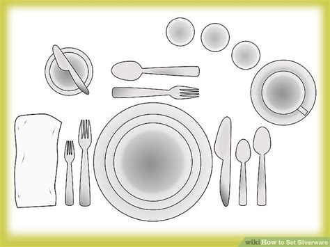 how to set a table with silverware proper placement of silverware on table setting