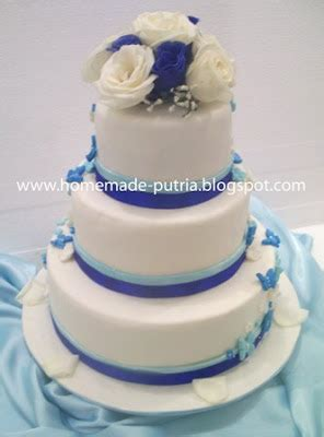 Wedding Cake Jogja by Order Blue Butterfly Wedding Cake 3 Tiers From Mba Ruri