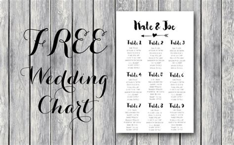 wedding seating chart template printable freebie archives bows