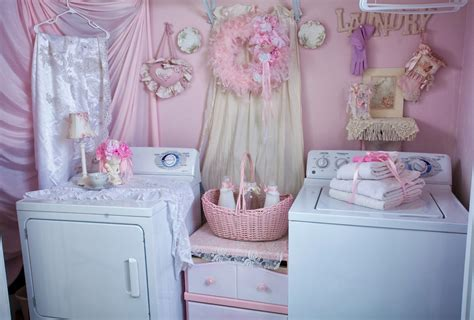 olivia s romantic home shabby chic pink laundry room