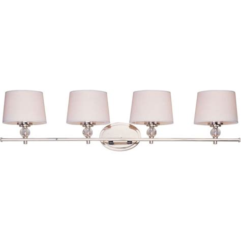 Polished Nickel Vanity Lights by Filament Design Lenor 6 Light Brushed Nickel Incandescent
