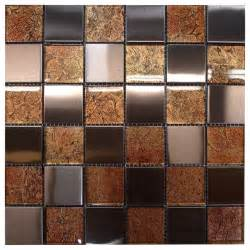 Vanity Strip Lighting W31 Copper Glass Copper Steel Mosaic Contemporary Tile