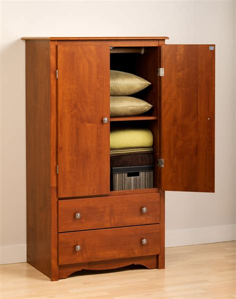 Prepac Armoire by Cherry 2 Door Armoire By Prepac