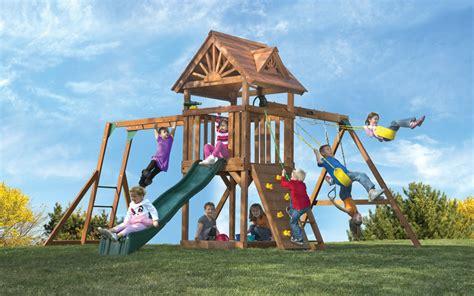 kids creations swing set comparing kid s creations cedar redwood swing sets