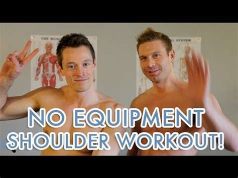 home shoulder workout without equipment workouts to get