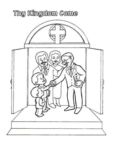 coloring page reverent child the lord s prayer for kids children and parents free