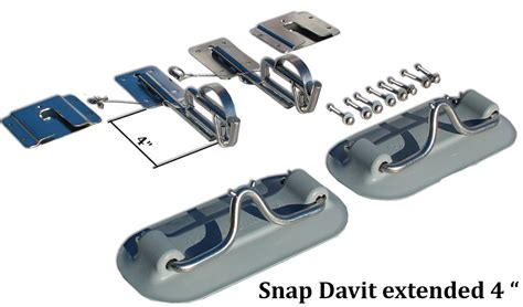 attaching swim platform to boat snap davits for inflatable boat swim platform w quick