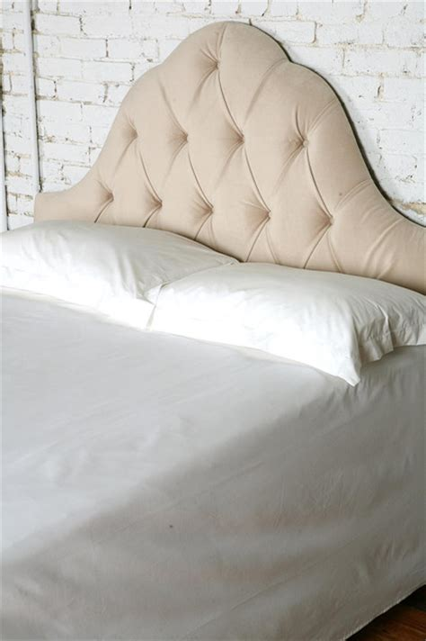 velvet tufted headboards velvet tufted headboard eclectic headboards by urban