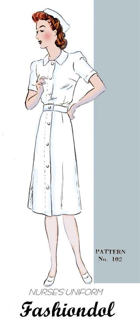 vintage nurse pattern nurse uniform pattern nurse uniform patterns pinterest