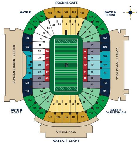 nd stadium seating chart notre dame football seating chart syracuse orange at