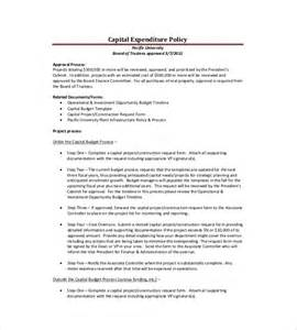 capital expenditure template capex reporting template capital expenditure request
