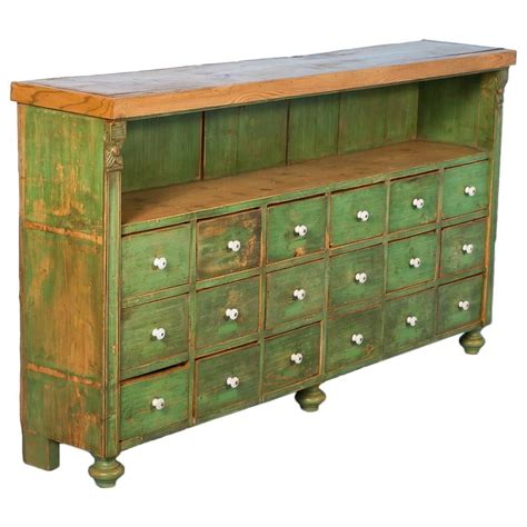 multi drawer chest antique antique green painted multi drawer cabinet from romania