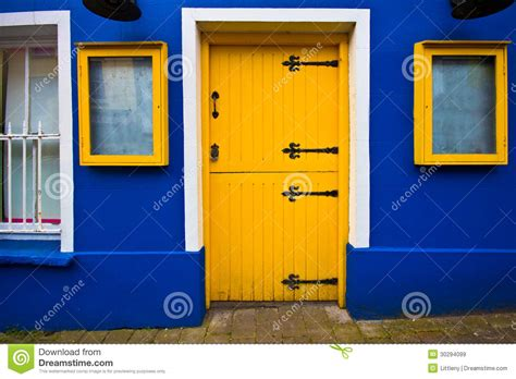 Antique Dutch Door And yellow door royalty free stock images image 30294099