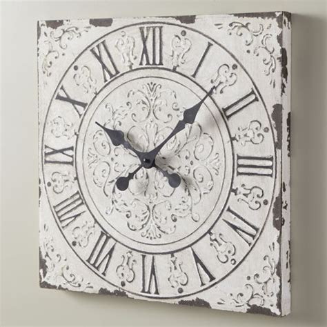 white shabby chic wall clock large shabby chic clock clocks buttons etc