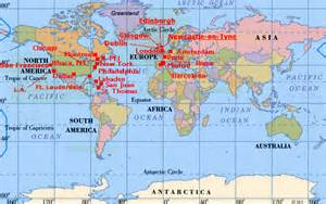World Cities Map by Maps World Map Major Cities