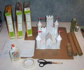 How To Make A Castle Out Of Cardboard And Paper - 1000 ideas about castle crafts on cardboard