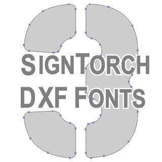 dxf fonts signtorch turning images  vector cut paths