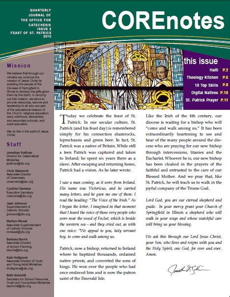 catholic faith education newsletter october catholic faith education corenotes newsletter